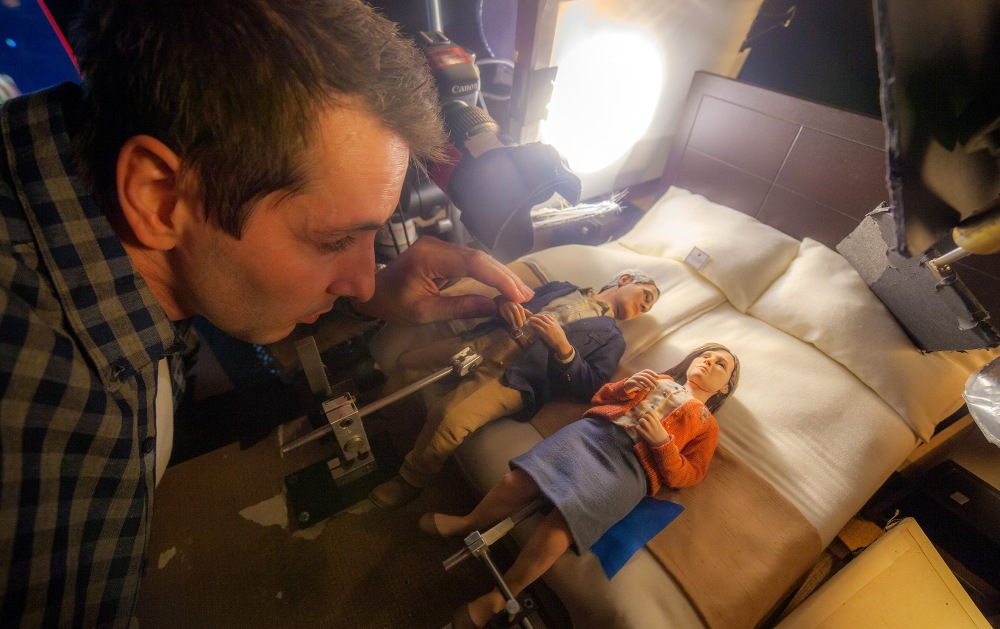 On the set of the animated stop-motion film, ANOMALISA, ©Universal